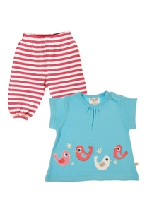 Smock Top & Pull Up Set Vögelchen - Frugi
