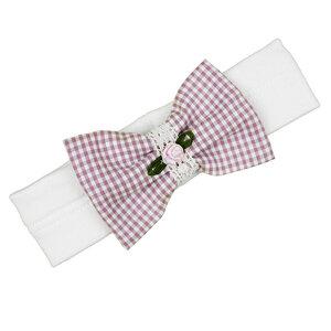 Süßes Stirnband (rosa od. orchid) aus Vichy-Karo (54488) - carl&lina