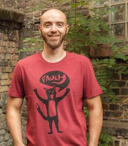 Kater Ferdinand Fauch - Fair Wear Männer T-Shirt  - päfjes