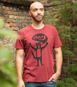 Kater Ferdinand Fauch - Fair Wear Männer Bio T-Shirt - päfjes
