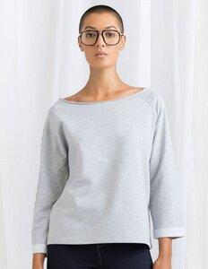Damen T-Shirt Flash Dance Sweatshirt weiter Schulterfreier Ausschnitt - Mantis