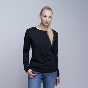 Pure Waste - Damen Long Sleeve T-Shirt, Black - Pure Waste