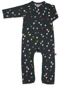 Wickelstrampler Dreiecke - jumpsuit without feet party jersey cotton - Froy & Dind