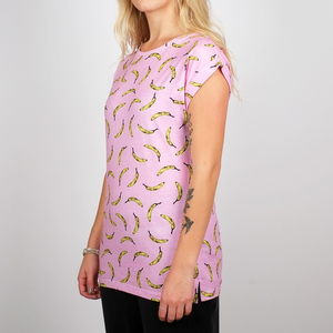 Dedicated T-Shirt Visby Bananas Pink - DEDICATED