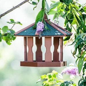 Vogelhaus aus Holz zum aufhängen ca. 44x44x36cm - Skojig