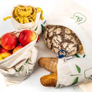 Brot- & Gemüsetasche inkl. Saisonkalender im 4er Set - Skojig