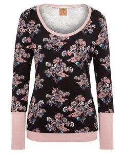BIO Pullover - Floral - schwarz/rose - æbletræ