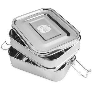 Edelstahl Lunchbox Doppeldecker - Brotzeit