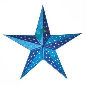 Papierstern beleuchtet für Kinder blau | Kinderzimmerdeko - Mitienda Shop