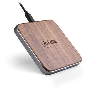 InLine® Qi woodcharge, wireless fast charge - InLine