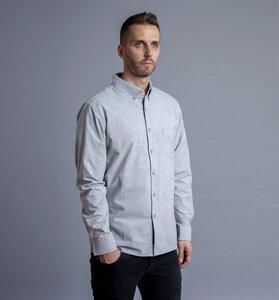 Pure Waste - Unisex Hemd, Grey Melange - Pure Waste
