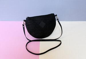 Handtasche, Moonbag compact, Kork - Herdentier