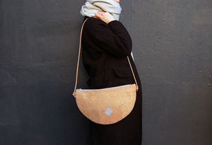 Handtasche, Moonbag, Kork - Herdentier