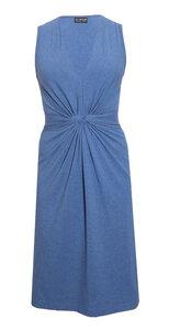 Bio Kleid mit Taillenraffung und V-Ausschnitt - bill, bill & bill