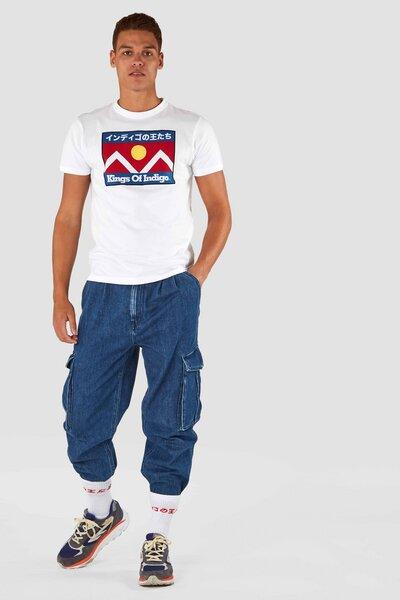 Größe 40 Kaufen klassischer Chic T-Shirt - Darius Mountain Fuji - Weiß