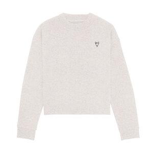 Cityfox Stick – Frauen Short Sweater – Light Grey - dressgoat