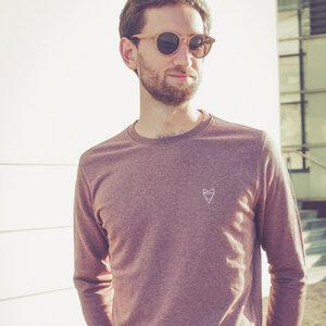 Cityfox Stick - Männer Sweater - Dark Cranberry - dressgoat