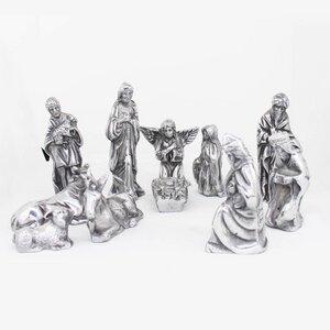 Handgemachte Krippenfiguren | 11er Set Krippenfiguren aus Zinn  - Mitienda Shop