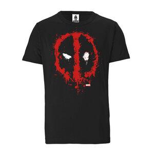 LOGOSHIRT - Marvel Comics - Deadpool Gesicht - Bio - Organic T-Shirt   - LOGOSH!RT