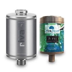 rivaALVA Filter Skin & Hair Duschfilter Set | 100% Bio, Plastikfrei - rivaALVA
