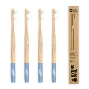 Zahnbürste aus Bambus | mittelweich | hellblau - HYDROPHIL