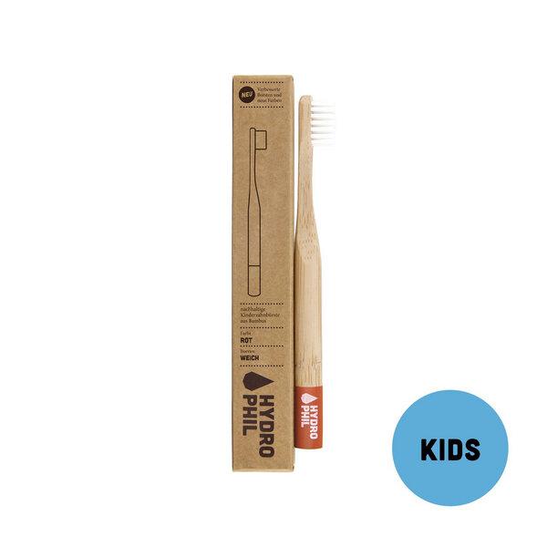 Kinder Zahnbürste Aus Bambus | Extra Weich | Rot