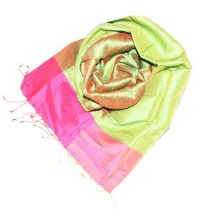 SMILLA Edler Schal aus handgewebter Seide - Schönes aus Indochina