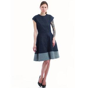 Sommerkleid aus Jeans Bio-Baumwolle Denim blau - SinWeaver alternative fashion