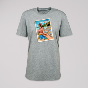 """T-Shirt """"set a good example"""", 100% Bio-Baumwolle, Eco-Print - ethicted"""