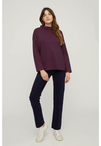 Langarmshirt - Leah Stripe Top - Navy and Pink - aus Bio-Baumwolle - People Tree