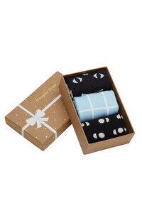Katzen 3er Pack Socken - Cat Patterned  Socks Set of 3 in box - People Tree