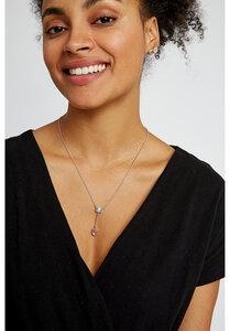 Double Stone Necklace - Kette mit Rosenquarz und Topas - People Tree