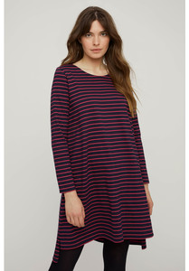 Kleid - Rafaella Stripe Tunic - Navy and Pink - People Tree