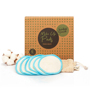 6er /12er Pack ökologische Reinigungspads / Abschminkpads aus Bambus - Bambuswald