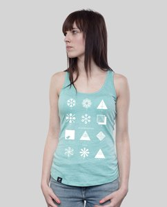"Tank Shirt ""Fashion"" in Mid Heather Green oder Coral - SILBERFISCHER"