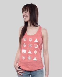 """Tank Shirt """"Fashion"""" in Mid Heather Green oder Coral - SILBERFISCHER"""