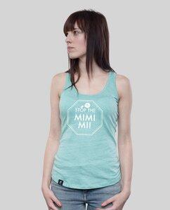 """Tank Shirt """"MIMIMI"""" in Coral oder Mid Heather Green - SILBERFISCHER"""