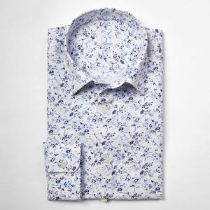 Nachhaltige Langarm Herren Hemd  Blue Nature mit Markanter Druck - SKOT Fashion
