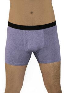 4er Pack Herren Boxershorts Bio-Baumwolle Unterhose schwarz-blau-rot - Albero
