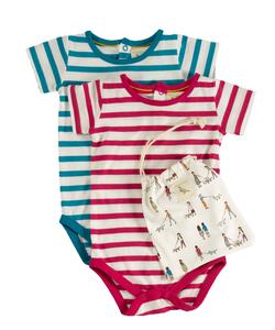 Bodies Kurzarm 3 set Baby  Kleinkind - Organcis for kids Pigeon
