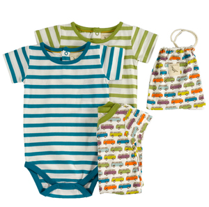 Bodies Kurzarm 3 set Baby Kleinkind - Organcis for kids Pigeon