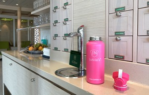 """Exklusive JuNiki´s Trinkflasche XL aus Edelstahl Vakuum-isoliert 1L/32oz – limitierte Sonderedition """"Pink Panther"""" - JN JuNiki's"""