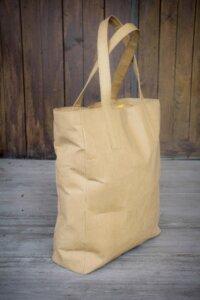 Kraft Papier : Einkaufstasche, Shopper, Lederoptik, vegan und waschbar - BY COPALA
