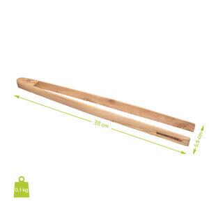 Grillzange aus Olivenholz verschiedene Längen - NATUREHOME