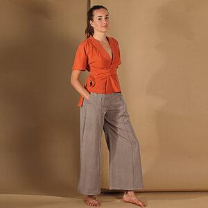Hose Culotte Janina aus Tencel in Khaki oder Blau - ManduTrap