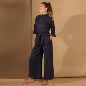 Bluse/Top aus Tencel in Blau, Senfgelb oder Rost,  - ManduTrap