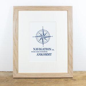 Bild mit Echtholzrahmen - Navigation - Bow & Hummingbird
