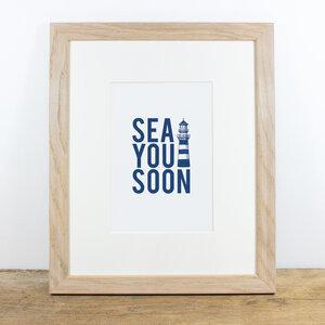 Bild mit Echtholzrahmen - Sea you soon - Bow & Hummingbird
