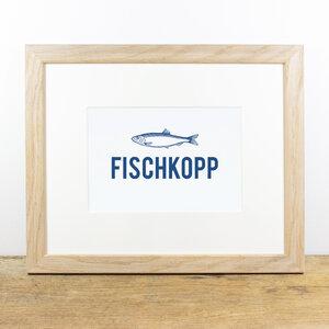 Bild mit Echtholzrahmen - Fischkopp - Bow & Hummingbird