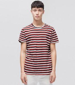 T-Shirt Anders Tricolour Stripe - Nudie Jeans